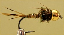 Нахлыст мушки - нимфы Владимир Косторной Pheasant Tail Gold Head  1-03/08