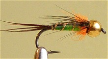 Нахлыст мушки - нимфы Владимир Косторной Pheasant Tail Gold Head  1-06/10